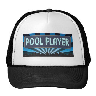 Pool Player Marquee Mesh Hats