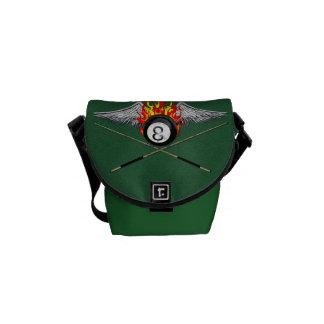 Pool Player Messenger Bags