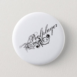 Pool Player Script 6 Cm Round Badge