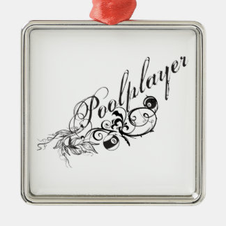 Pool Player Script Christmas Ornament
