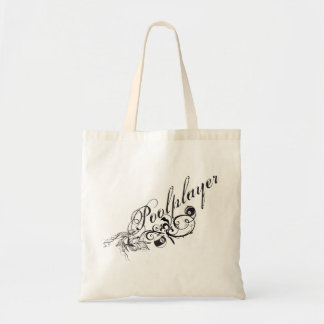 Pool Player Script Tote Bag