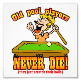 Pool Players Photo Print