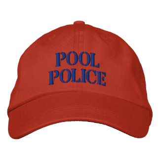 Pool Police Hat Embroidered Baseball Cap