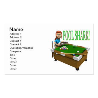 Pool Shark 2 Pack Of Standard Business Cards