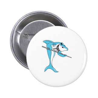 pool shark 6 cm round badge