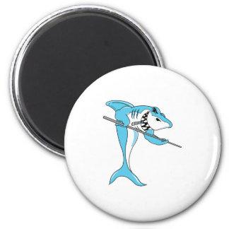 pool shark 6 cm round magnet
