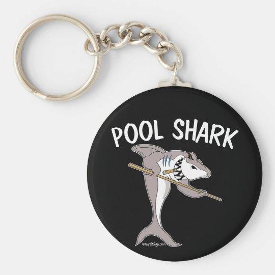 Pool Shark Basic Round Button Key Ring