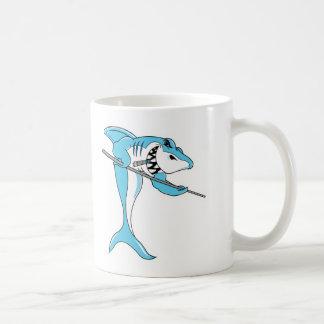 pool shark basic white mug