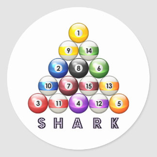 Pool Shark Classic Round Sticker