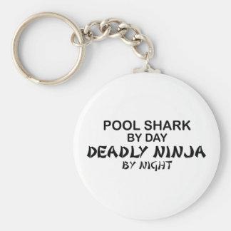 Pool Shark Deadly Ninja by Night Key Ring