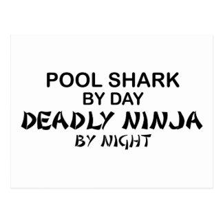 Pool Shark Deadly Ninja by Night Post Cards