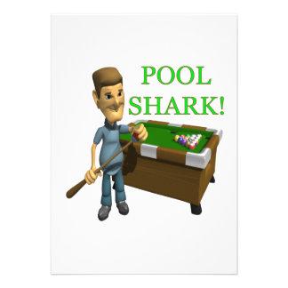 Pool Shark Personalized Invitation