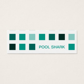 POOL SHARK (mod squares) Mini Business Card