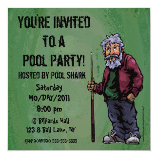 Pool Shark Party Invite