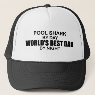 Pool Shark World's Best Dad by Night Trucker Hat
