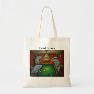 Pool Sharks with Lettering Budget Tote Bag