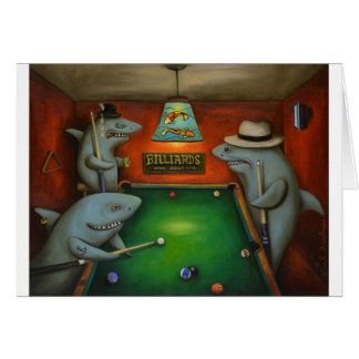 Pool Sharks with Lettering Card