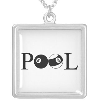 Pool Silver Plated Necklace
