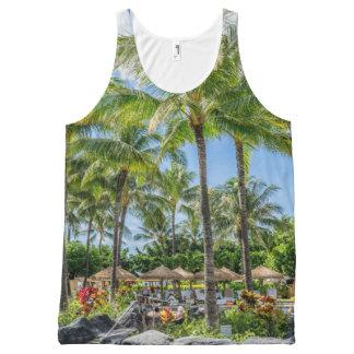Pool - Summer - Palms - Beach All-Over Print Tank Top