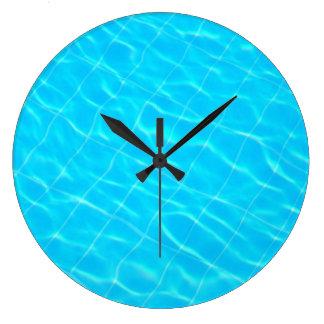 pool swim swimmingpool sport water texture blue wallclocks