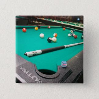 Pool Table 15 Cm Square Badge