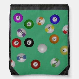 Pool Table and Balls Backpacks