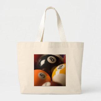 pool table balls canvas bag