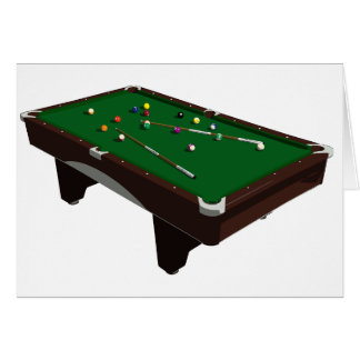 Pool Table Greeting Cards