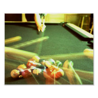 Pool Table Poster