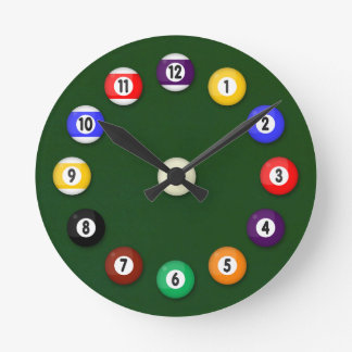 Pool Table - Round Clock