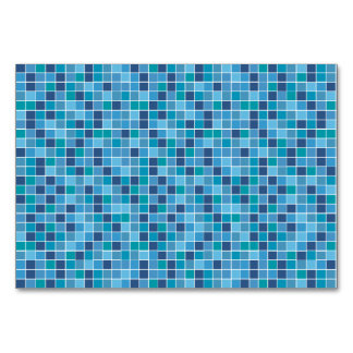 Pool tile pattern table card