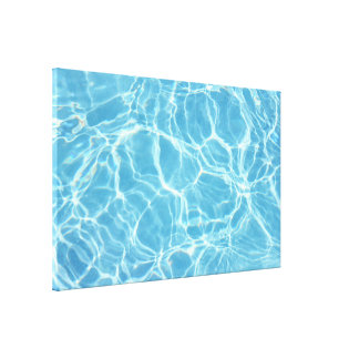 Pool Water Stretched Canvas Print