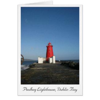 Poolbeg Lighthouse, Dublin Bay Notecard