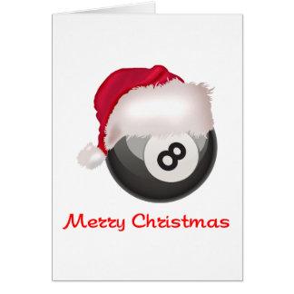 PoolChick Merry Christmas Santaball Card