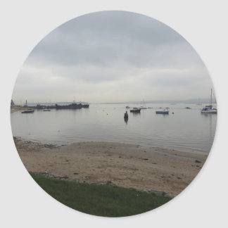 Poole Harbour from Hamworthy Classic Round Sticker