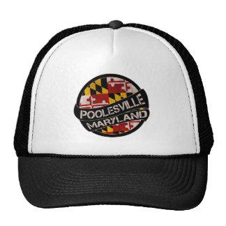Poolesville Maryland flag grunge trucker hat
