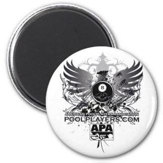 PoolPlayers.com 6 Cm Round Magnet
