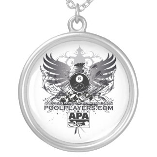 PoolPlayers.com Silver Plated Necklace