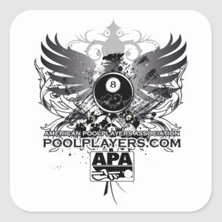 PoolPlayers.com Square Sticker