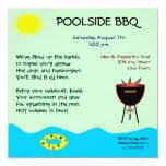 Poolside BBQ Invitations 13 Cm X 13 Cm Square Invitation Card