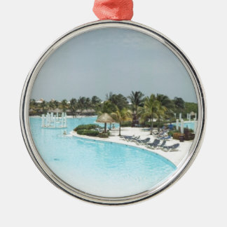 poolside christmas ornament