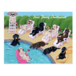 Poolside Party Labradors Painting