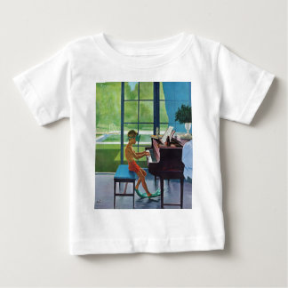 Poolside Piano Practice Baby T-Shirt