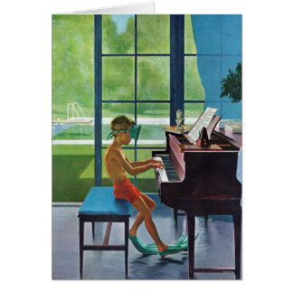 Poolside Piano Practice Card