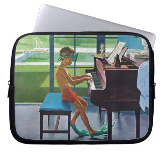 Poolside Piano Practice Computer Sleeves