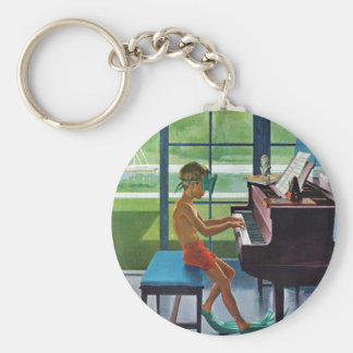 Poolside Piano Practice Key Ring