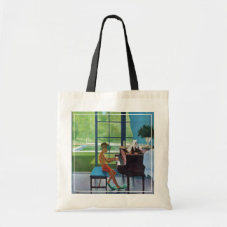 Poolside Piano Practice Tote Bag