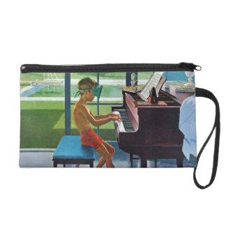 Poolside Piano Practice Wristlet