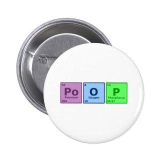 Poop 6 Cm Round Badge