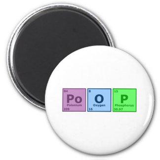 Poop 6 Cm Round Magnet